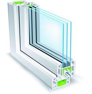 شیشه سه جداره , شیشه س جداره , شیشه 3 جداره UPVC